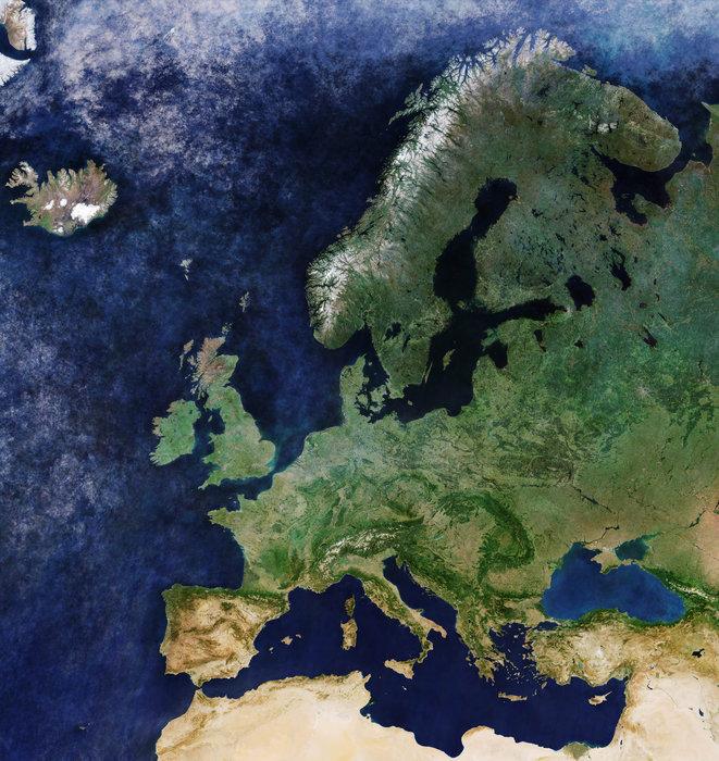 Et skyfrit Europa - Credit ESA
